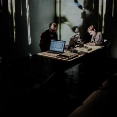 En résidence de création avec Louise Dupré, Simon Dumas, et Nicolas Jobin